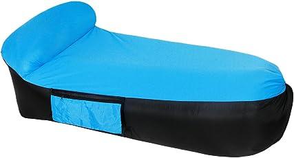 Fansport Aufblasbares Sofa Wasserdichtes Sofa Strand Sofa Tragbares Sofa Garten Aufblasbar Reise Couch Aufblasbare Liege Air Sofa Aufblasbarer Sitzsack Liege füR Camping, Park, Hinterhof