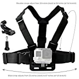 LONDON FAB 2018 Chest Mount Harness Strap for Gopro Hero 6, Hero 5, Black, Session, Hero 4, Session, Black, Silver, Hero + LCD, 3+, 3, 2, 1, Chest Strap + J-Hook, Thumbscrew & Storage Bag