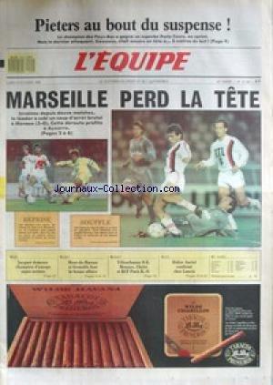 EQUIPE (L') [No 13196] du 10/10/1988 - PIETERS AU BOUT DU SUSPENSE - MARSEILLE PERD LA TETE - MONACO - BOXE - JACQUOT CHAMPION - RUGBY - MONT-DE-MARSAN ET GRENOBLE - BASKET - VILLEURBANNE - MONACO - CHOLET ET RCF PARIS - DIDIER AURIOL CHEZ LANCIA.