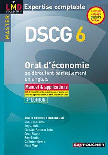 DSCG 6 Oral d'économie se déroulant partiellement en anglais 4e édition