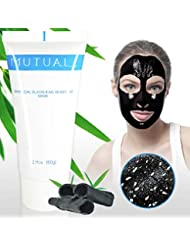Blackhead Maske,Tiefenreinigung Schwarze Maske, Black Peel off Mask, Aktivkohle Mitesser Maske, Schwarze gesichtsmaske, Reinigungsmaske Schwarze Maske 3 Schritte + Maske Pinsel