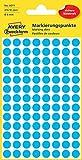 Avery Zweckform 3011 Markierungspunkte (416 Stück, Ø 8 mm) 4 Blatt blau