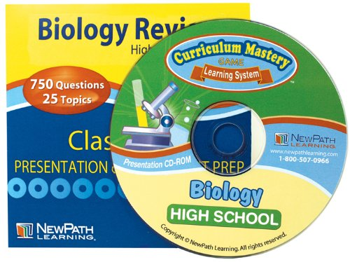 NewPath Learning Biology Évaluation Interactive Tableau blanc CD-ROM Licence site High School