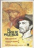 Caratula cine: El loco de pelo rojo (Lust for life), ilustracion de Mataix