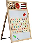 HALO NATION® 2 in 1 Writing Board Slate Double Sided Educational Board with Magnetic Alphabets Numbers Maths Learning Toy...