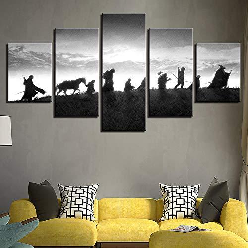 Five-in-One-Ring König Yi Xi Wandmalerei moderne Wohnzimmer Schlafzimmer Kunst Wanddekoration Malerei ohne Rahmen Kit 30x50cmx2p 30x70cmx2p 30x80cm -