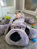 XXL Hund Teddybär Plüsch Kuschel Stoff Plüsch Riesen Teddy Bär Groß, grau