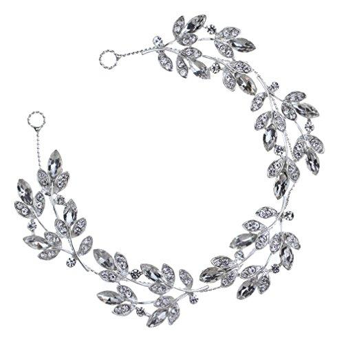 Yazilind tocados novia diademas para el pelo mujer tocados de pelo Estilo de la flor de la joyeria del vestido de pelo (Estilo15)