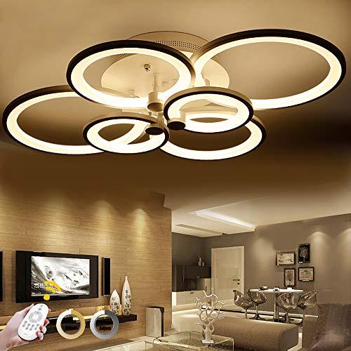 ONLT LED Moderne Plafonnier,LED panneau lumineux moderne lampe Plafonnier Lustre Bureau,LED Acrylique Lampe de plafond,Bureau,Salle À Manger, Salon et de Restaurant (Dimmable, 6 têtes)