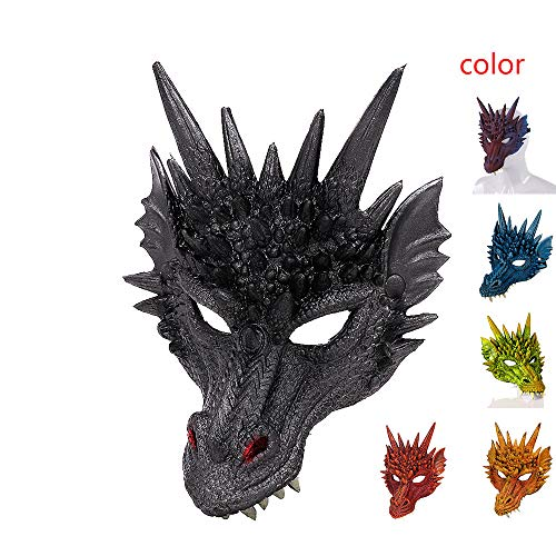 LSSLSS Drachen Maske/Party Maske / 3D Drachen Cosplay Maske Karneval/Party KostüM Maske, Halloween Karneval Party PU Schaum 3D Tier Drachen Maske