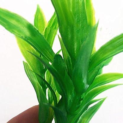 Brezeh 10Pc Artificial Aquatic Plants Plastic Plant Fish Tank Aquarium Green Water Grass Landscape Decoration Ornament 2