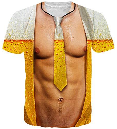 Loveternal Unisex Bunt 3D Drucken Sommer Cool Graphic Kurzarm T-Shirt S - Summer Graphic T-shirt