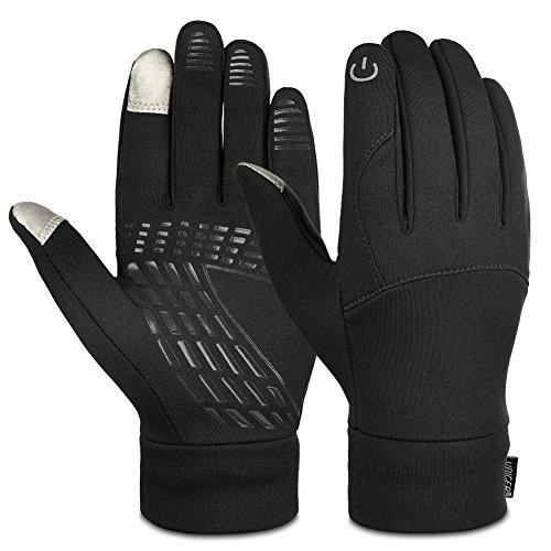 Vbiger Unisex Winter Warm Gloves Touch Screen Gloves Outdoors Sport Gloves Running Cycling Gloves for Men Women (L