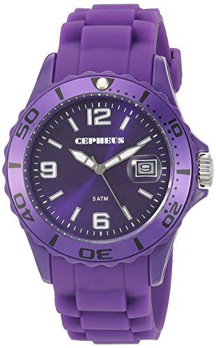 Cepheus - CP603-090A-1 - Montre Homme - Quartz Analogique - Bracelet Silicone Violet