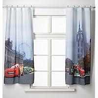 AG Design FCS xl 4312 - Cortinas para habitación infantil, diseño de las hadas de Disney