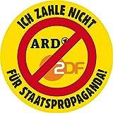 Aufkleber / Sticker - Ich zahle nicht für Staatspropaganda (Sticker-Set, 10 Stück)