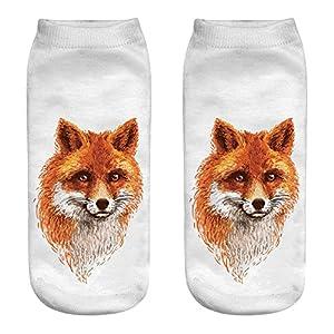 BaZhaHei Damen Mode Bequem Socken Winter Warm Nette beiläufige Baumwollsocken 3D die mittlere Socken-Karikatur-Socken…