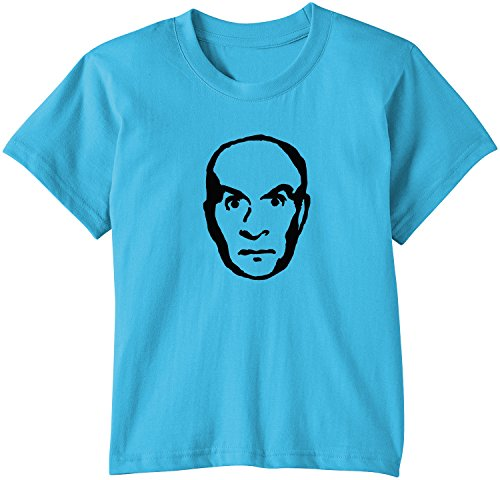 Touchlines - T-Shirt Louis de Funes, T-Shirt unisex bimbi, Turchese (swimming pool), 152/164