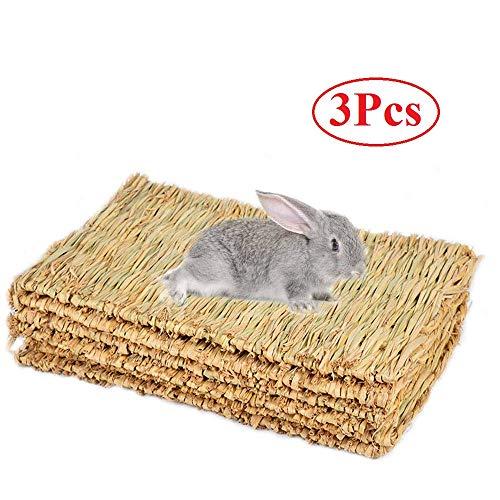 Cedmon Kaninchen Matte, Gewebte Seegras für Kaninchen, Safe & Essbar Kaninchen Automatten für Käfige, Bunny Kauen Spielzeug für Kaninchen -
