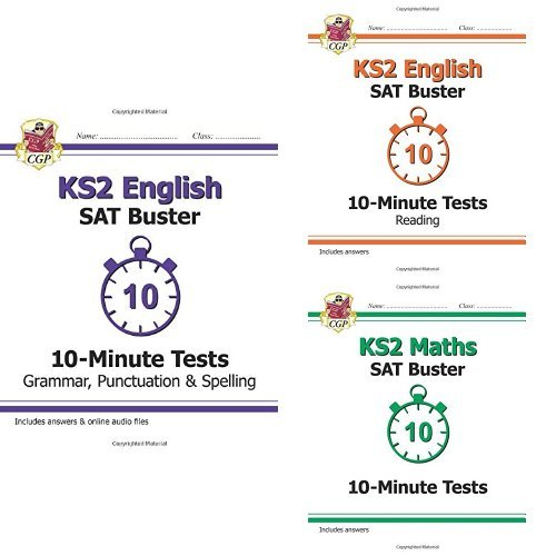 New KS2 SAT Buster 10-Minute Tests English and Maths 3 Book Bundle