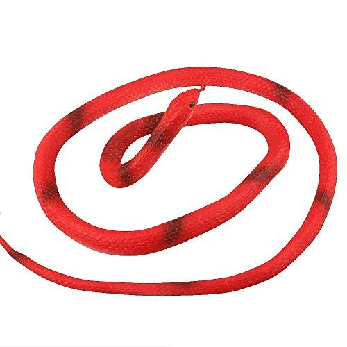 Eizur Falsche Schlange Gummischlange Kinder Simulationsmodell Spielzeug Weiche Gummi Biegsam Kunstlich Parodie Trick Spielzeug Requisiten Schlangevorgeben Garten Trickspielzeug für Halloween April Fools Day Party 126cm - (Für Schwarze Die Halloween Kostüme Menschen Besten)