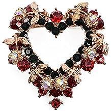fabl Crew Navidad Forma de Corazón Broche con brillantes multicolor elegante broche Navidad Regalo para Mujer