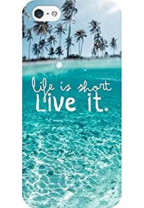 AMEZ designer printed 3d premium high quality back case cover for Apple iPhone SE (Wonderful Clear Ocean Beach Life Is About Live It)
