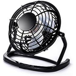 CSL - Mini Ventilateur USB | Mini Ventilateur de Bureau Fan | PC Ordinateur Ordinateur Portable | en Noir