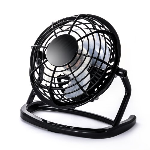 CSL - Mini Ventilateur USB - Mini Ventilateur de Bureau Fan - PC Ordinateur Ordinateur Portable - en Noir