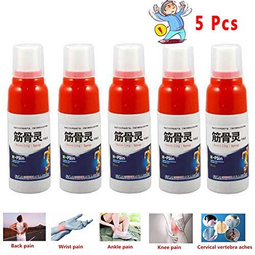 Schmerzlinderung spray,Schmerz Entlastungs Body Spray,Linderung von Gelenkschmerzen Rheuma-Arthritis,Muskelverstauchung,Knie-Taillen-Schmerz (5 Pcs) -