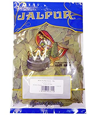 Whole Dry Bay Leaves INDIAN SPICE DRIED HERBS DRY BAY LEAF 50g by Jalpur