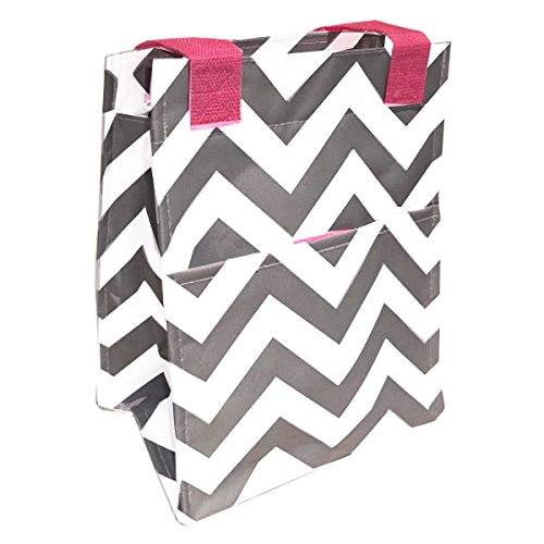 best-soft-gray-chevron-pink-trim-insulated-lunch-tote-purse-by-travelnut-box-unique-top-new-popular-