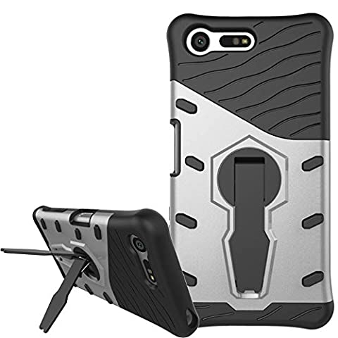 Case for Sony Xperia X Compact) Armour Armor Cover Case Mobile Phone Case Back Cover, Nnopbeclik Hybrid 2in 1TPU + PC Protective Case Non-slip Anti Drop Protective 360Degree Rotation Stand Shockproof Protective Case Cover Bumper for Sony Xperia X