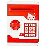 RIANZ Mini Electric Secret Password Safe ATM Piggy Bank Money Deposit Box Toy (Hello Kitty)