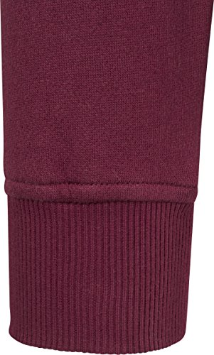 Urban Classics Basic Sweat Hoody, Felpa Uomo Rot (Port 1157)