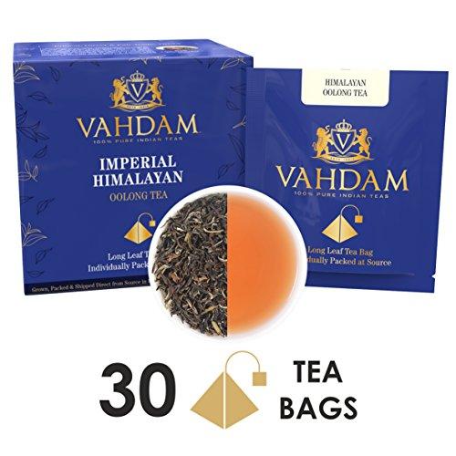 Tè oolong in foglie dall'himalaya, 15 bustine di tè (confezione da 2) - bustine piramidali di tè oolong, 100% naturale, disintossicante e snellente, perfetto per perdere peso. confezionato in india.