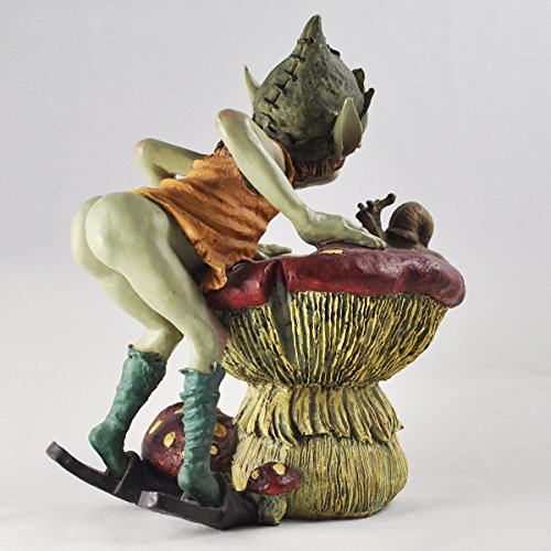 Pixie-Talking-to-Snail-on-Mushroom-Green-Garden-Home-Decor-Fun-Quirky-Gift-Figurine-Anthony-Fisher