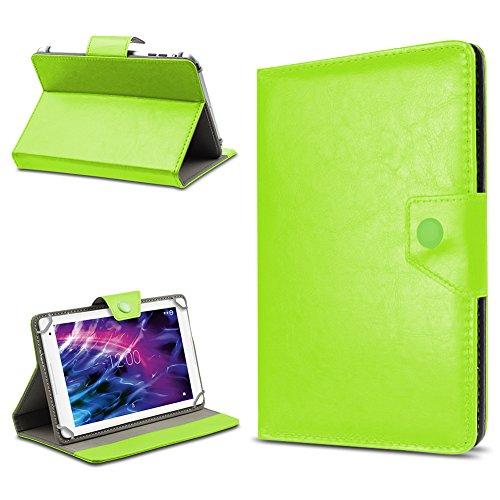 UC-Express Tablet Tasche für Medion Lifetab E10604 E10414 E10412 E10511 E10513 E10501 Hülle Schutzhülle Cover 10.1 Case, Farbe:Grün