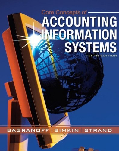 Core concepts the best amazon price in savemoney core concepts of accounting information systems by dba nancy a bagranoff 2007 03 fandeluxe Gallery