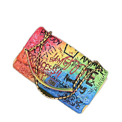 Hippie Wildleder-schulter-tasche (whale-fall Damen Tasche, bunt, Graffiti-bedruckt, große Reisetaschen, für Damen, Handtasche)
