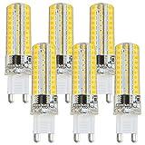 Specificazione: SKU: 11014012801.Presa di corrente: G9.LED lampadina: 80x 2835 SMD LEDs. Dimmerabile: Dimmerabile.Colore LED: Bianca Calda.Temperatura di colore: 3000-3500K(Bianca Calda).Flusso luminoso: 550lm.Tensione: AC 220-24...