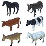 #9: Sunshine 6 Pcs Farm Animals Rubber Set (Small Size)