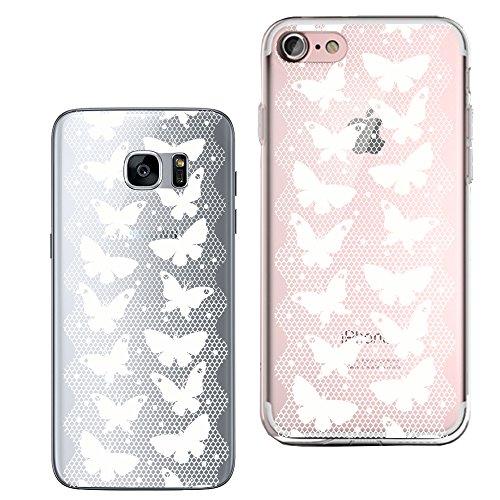 Original Lanboo® Silikon Case Für Samsung Galaxy S7 #2 M5 - Druck Design mandala Tribal Schmetterling Butterfly Netz Gitter Tiere