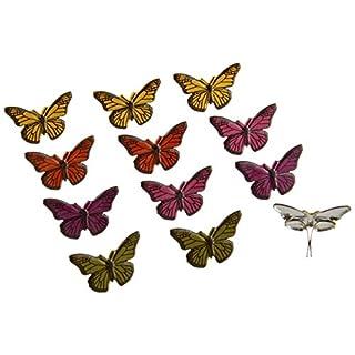 Eyelet Outlet Shape Brads 12/Pkg-Butterflies