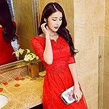 XC Hochzeitskleid im Frühjahr Hochzeitskleid in Den Kleinen ?rmel Der Kleinen Roten Drachen Brautkleid Braut Kleid Bankett,EIN,XXXL