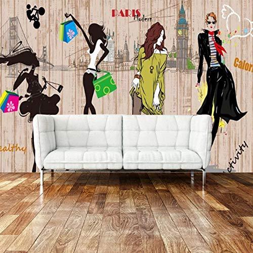 3D Parete Di Fondo Carta Da Parati Murale Che Copre Tappezzeria 5D Delle Donne Del Vestito Da Sposa Abiti (W) 400X (H) 280 Cm