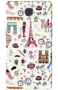paris Designer Printed Back Case Cover for OnePlus 3