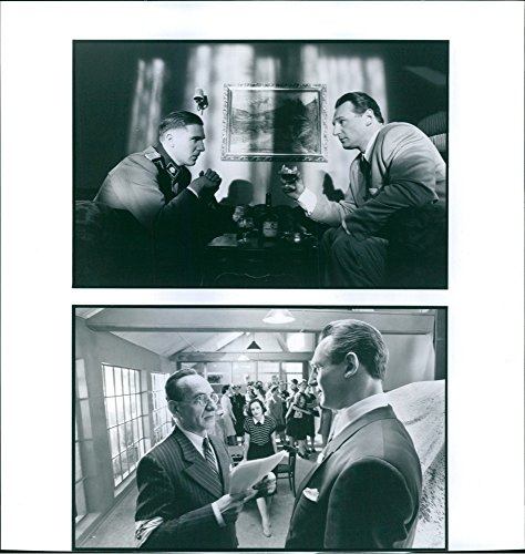 vintage-photo-of-a-scene-from-the-film-schindlers-list-casting-by-ralph-fiennes-liam-neeson-and-ben-