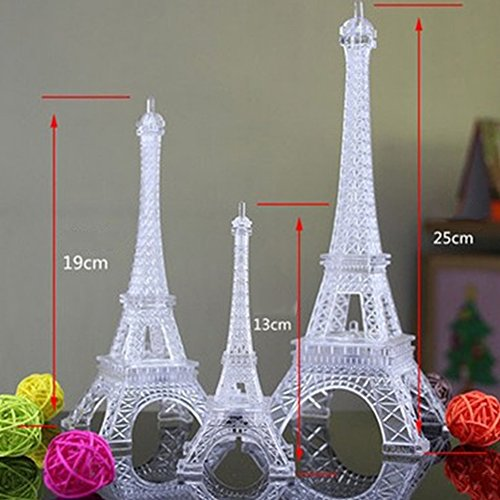 Colorido romántico Tour Eiffel LED Night Light mesa boda decorar lámpara dormitorio infantil regalo, big
