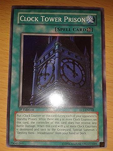 Yu Gi Oh : EOJ-EN048 Unlimited Edition Clock Tower Prison Super Rare Card - ( Enemy of Justice YuGiOh Single Card )